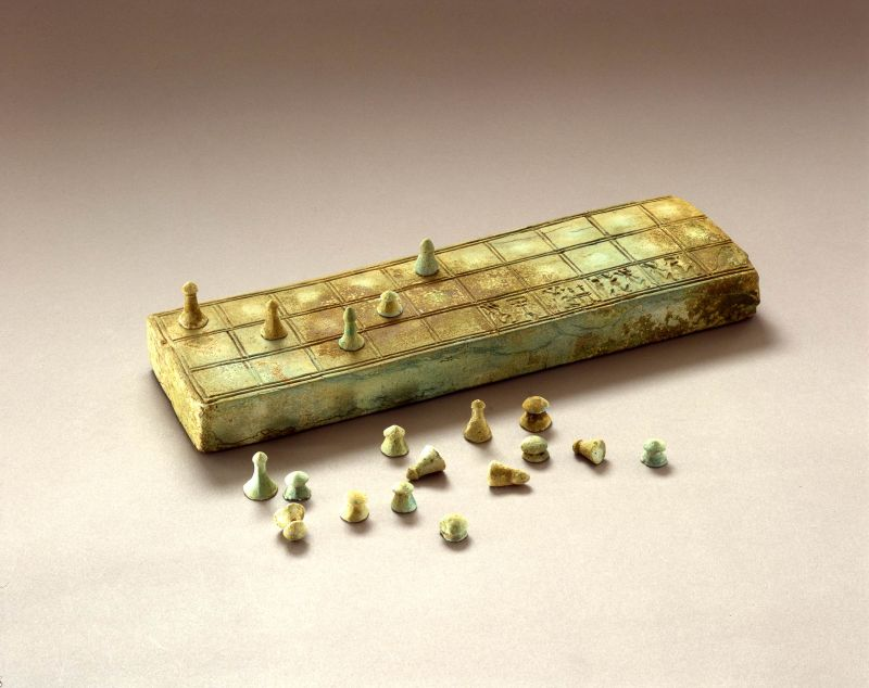 Game of Senet, including a game board and twenty playing pieces