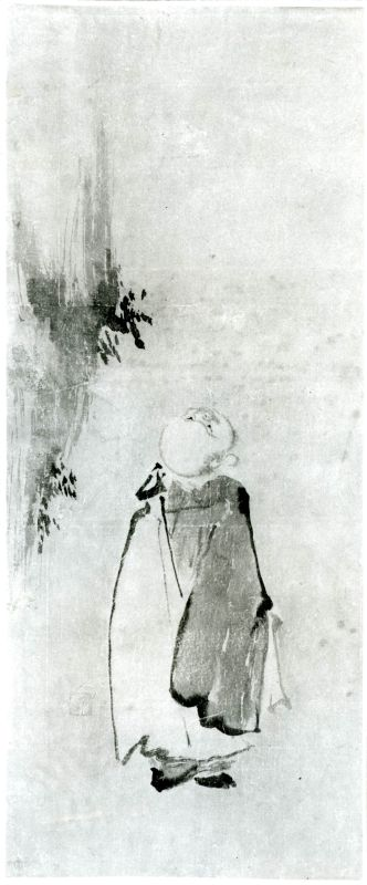 A Zen sage looking up