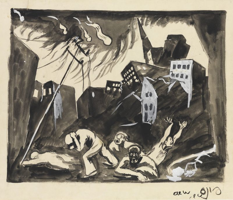 """Study for Conclusion: Apocalyptic City, from the """"Apocalypse"""" series"""