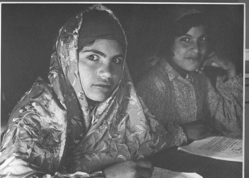 Girls from Bukhara learning Hebrew, Jerusalem