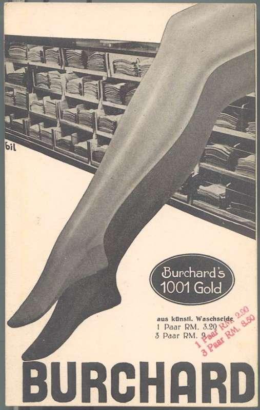 Burchard: Advertisement for artificial silk stockings