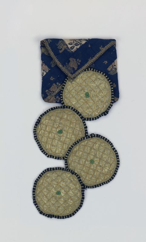 Four corners for a prayer shawl (<i>tallit</i>) and case, a gift for a groom
