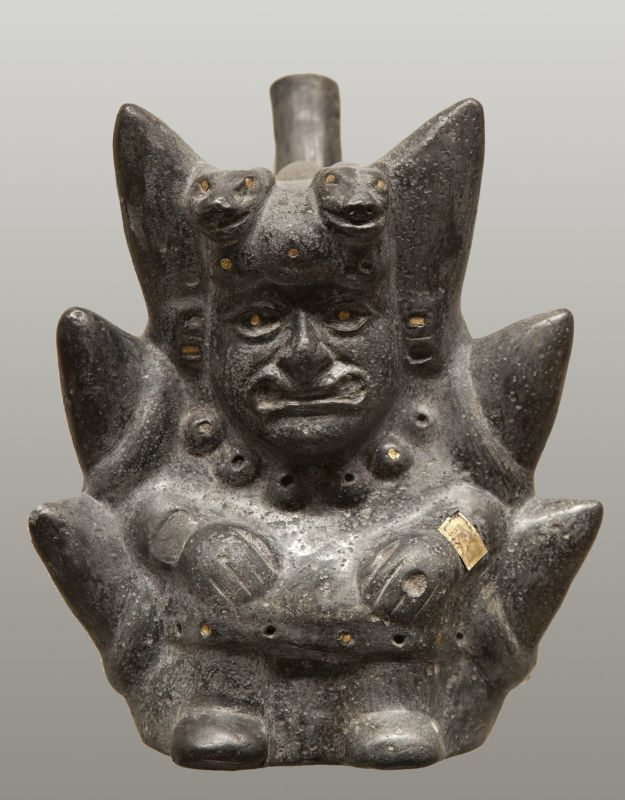 Bottle in the form of a God in the Andean Mountains