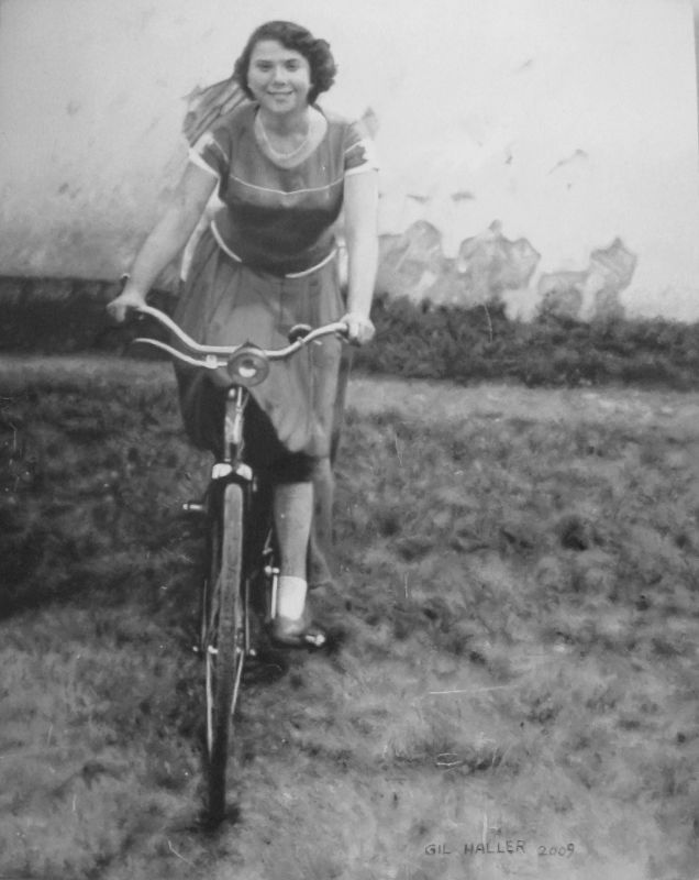 Mother on Bicycle