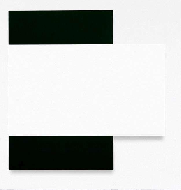 White Relief Over Black
