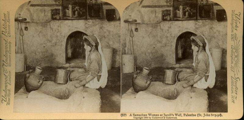 אישה שומרונית בבאר יעקב שבשכם