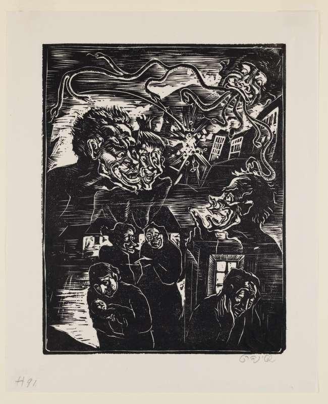 לשון הרע, איור לספר בן סירא, חברת שונצינו, ברלין, 1929