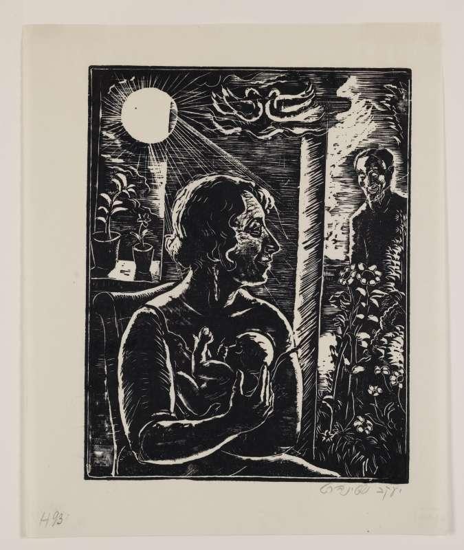 אישה טובה, איור לספר בן סירא, חברת שונצינו, ברלין, 1929