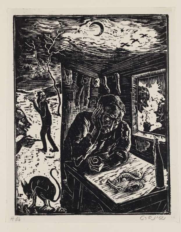 אל תמהר לבטוח בחבר, איור לספר בן סירא, חברת שונצינו, ברלין, 1929