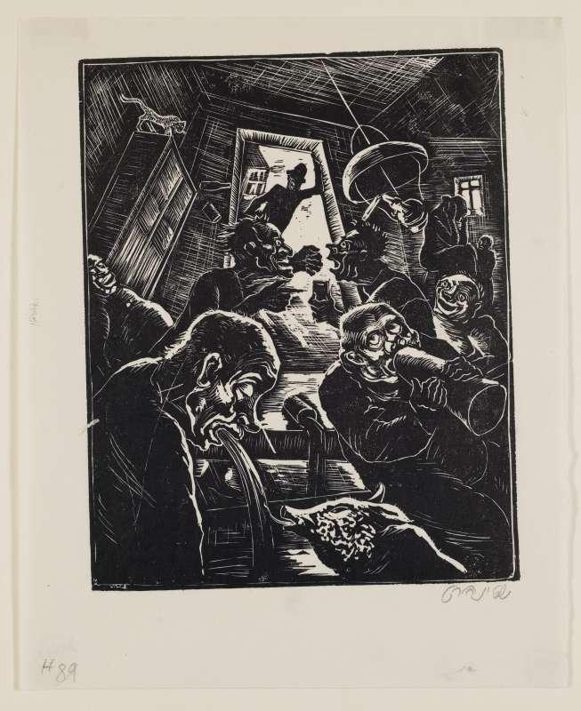 רבים הכשיל תירוש, איור לספר בן סירא, חברת שונצינו, ברלין, 1929