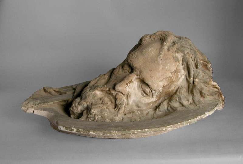 Severed Head of John the Baptist on a Platter (Self Portrait)