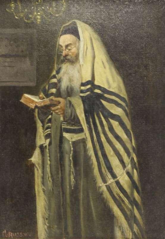 A Rabbi Praying
