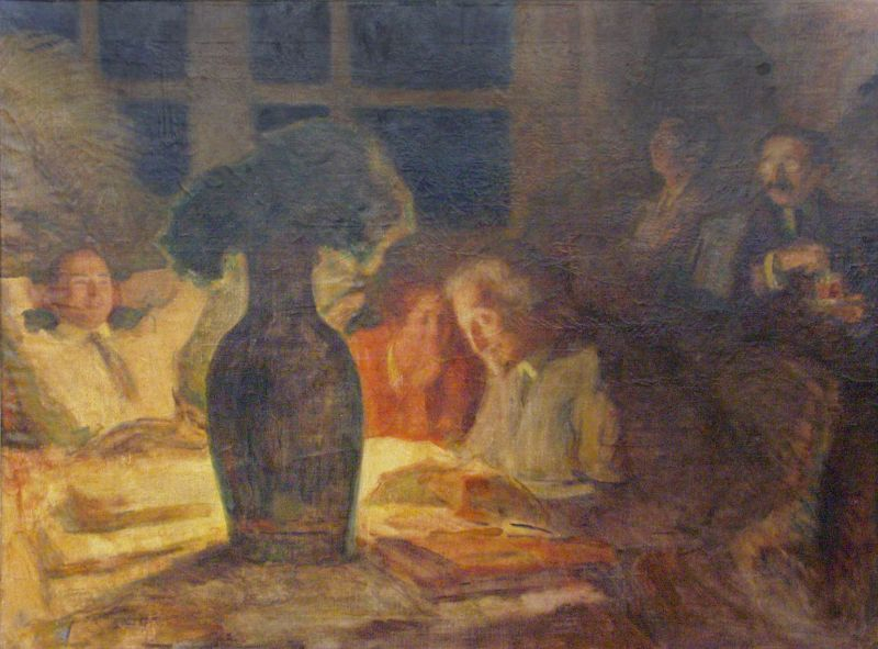 The Writer Anski Reading the Dybbuk in the Home of Stiebel