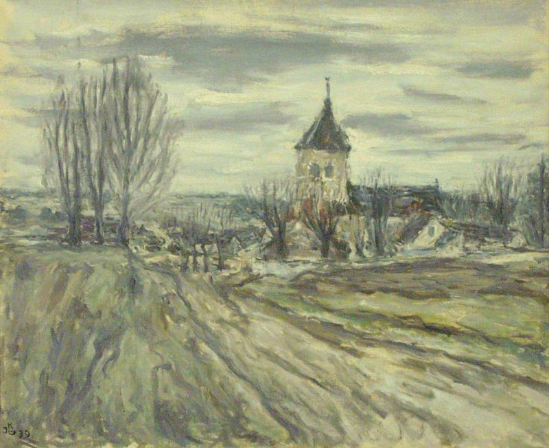 Landscape in Winter with Church