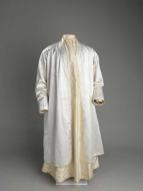 Man's white coat for High Holidays