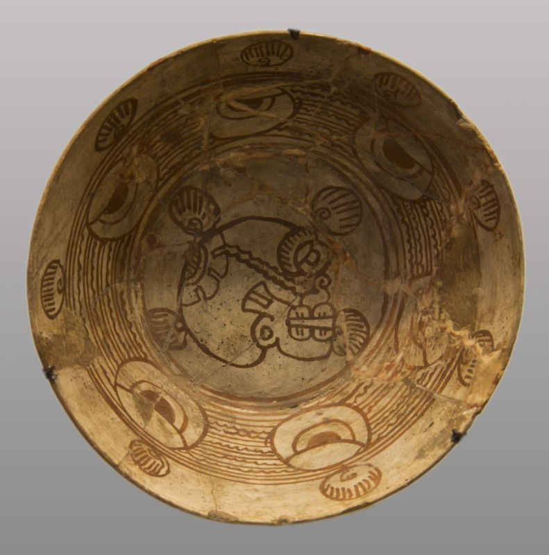 Bowl decorated with glyphs