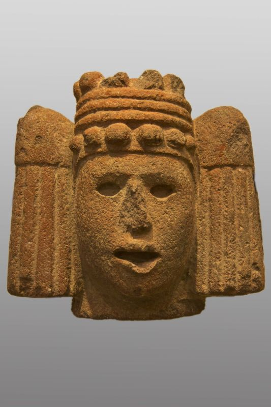 Head of Chalchiuhtlicue, goddess of inland water and springs