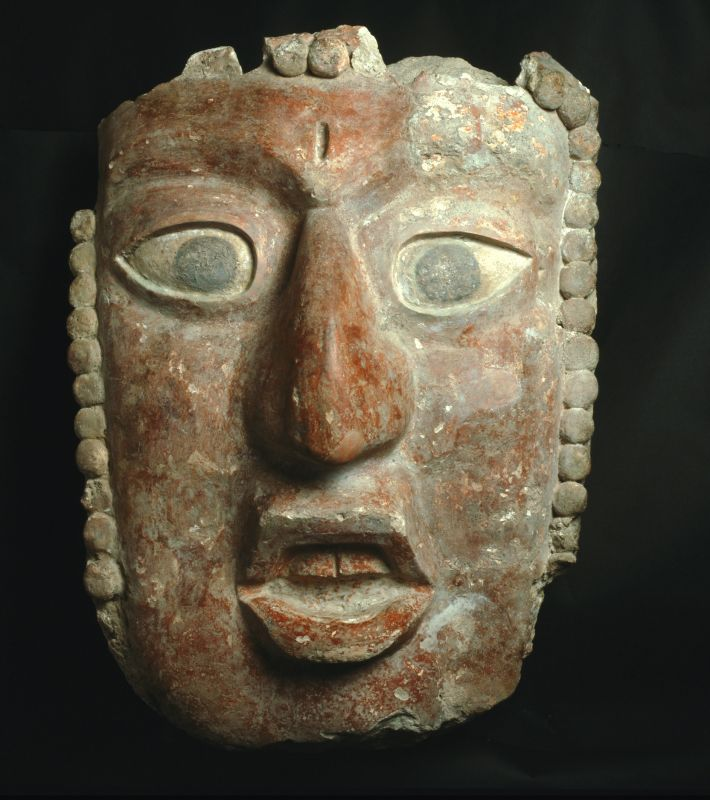 Monumental mask of a young king as the Maize God