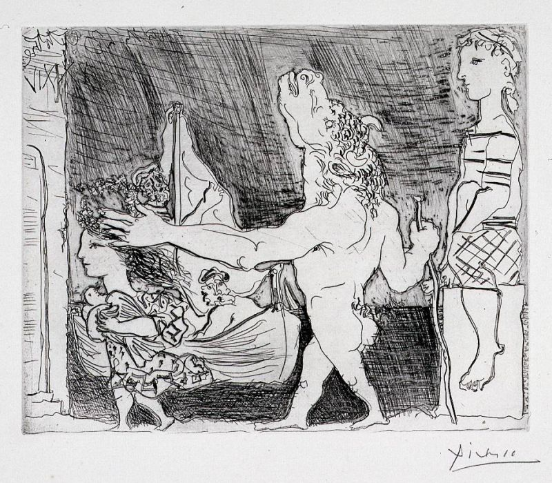 Blind Minotaur Led by a Young Girl II, from the Vollard Suite
