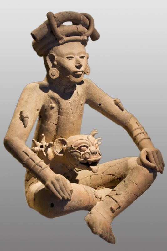 Incense burner in the form of a man-jaguar