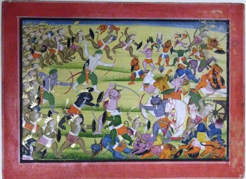ראמָה והָנוּמַן נלחמים ברָאווָאנָה מלך השדים ובצבאו