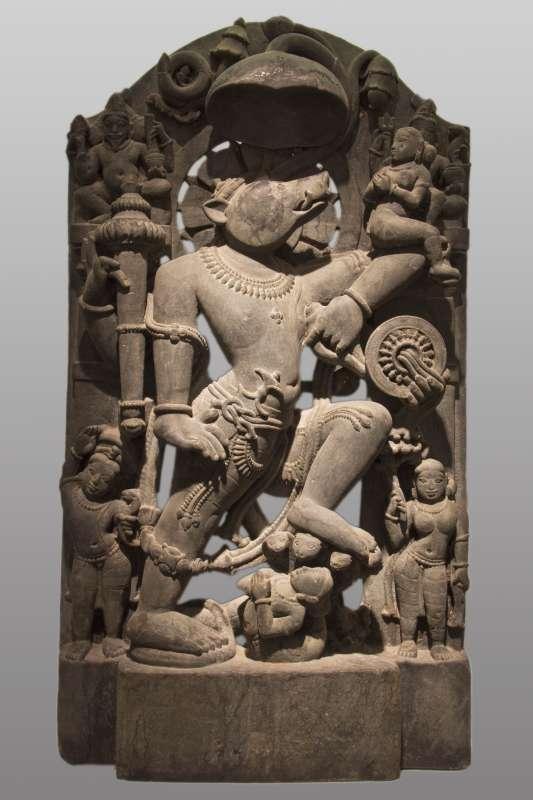 Vishnu in his form as Varaha, the boar