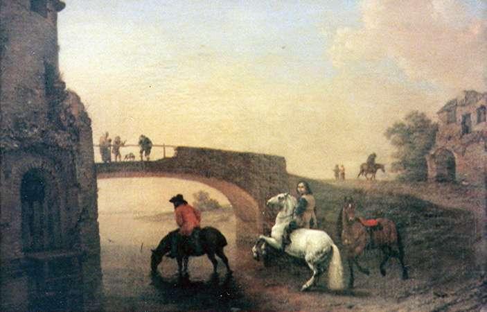 סוסים ליד המים