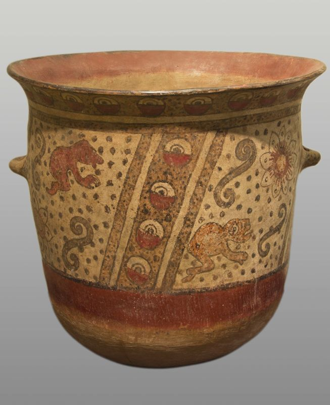 Urn with codex-style decoration