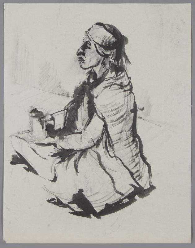 Arab Woman Seated on the Ground