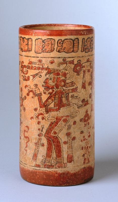 Cylindrical vessel portraying Underworld gods