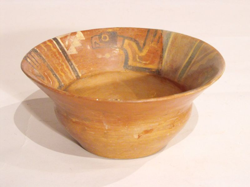 Bowl with painted eagles