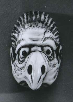 Head of a <i>karasu tengu</i>, (bird-headed goblin)