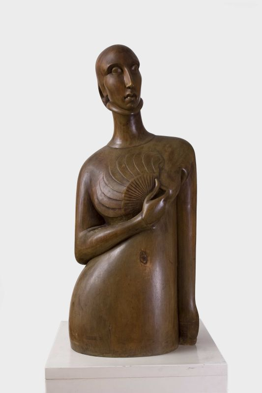 Woman with a Fan (Portrait of Yvanna Le Maistre)