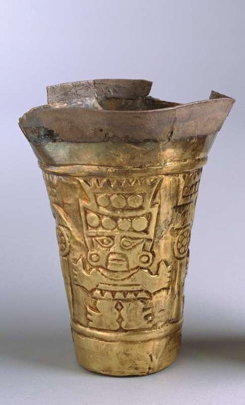 <i>Kero</i> beaker depicting the Sican deity