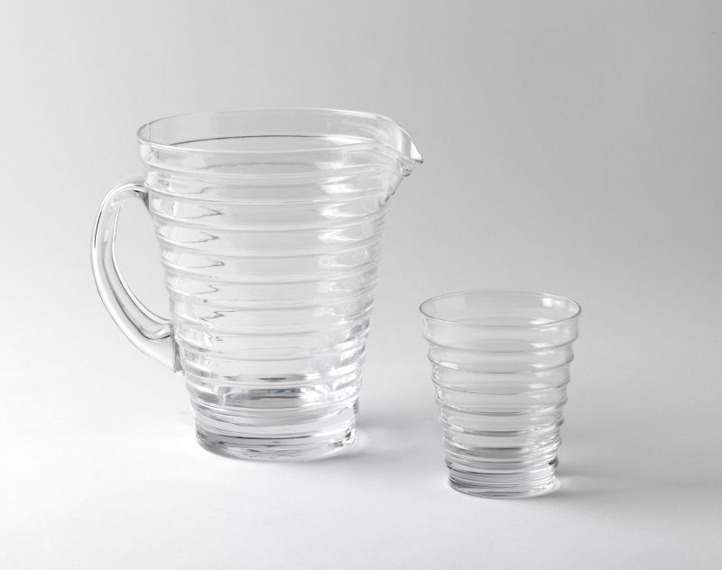<i>Aino Aalto</i> pitcher and glass