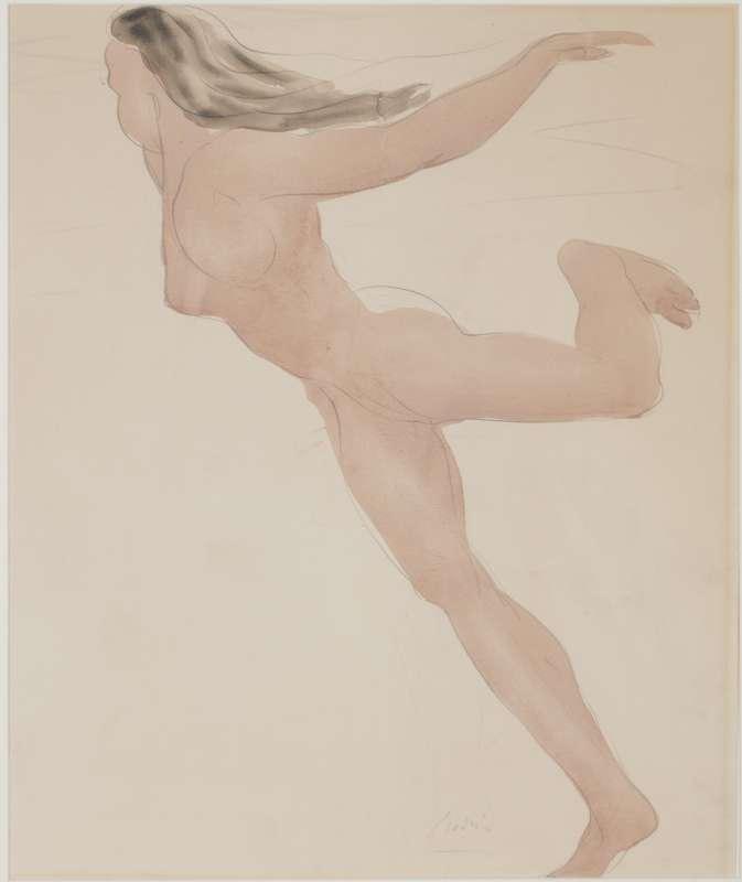 אישה עירומה רוקדת
