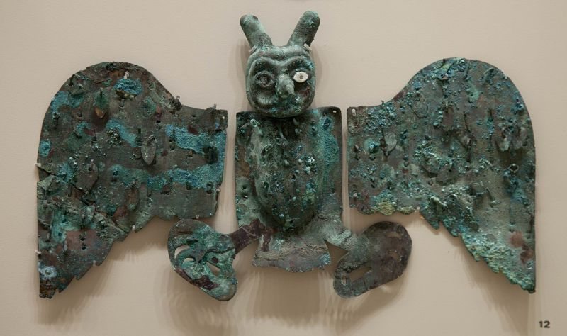 Ornamental pectoral in the form of an owl