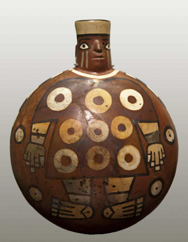 Flask portraying a tunic-wearing official