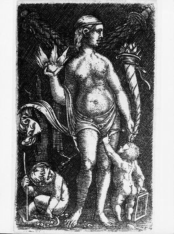 Standing Venus with Two Putti