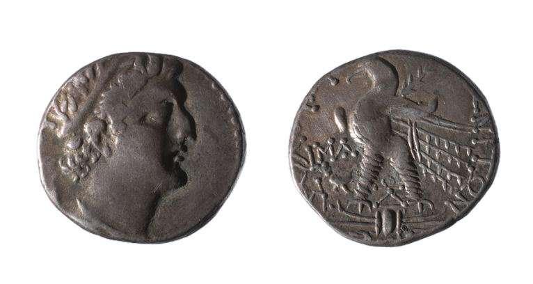 מטבע יווני (תלמי) של תלמי הט