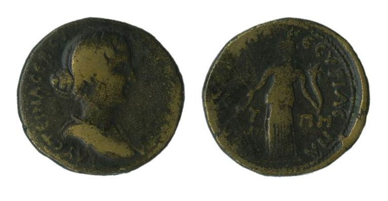 Roman Provincial coin of Faustina the Younger