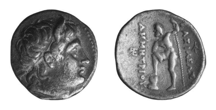 מטבע יווני של דמטריוס פוליורסטס