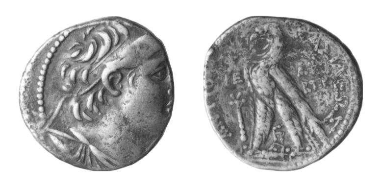 מטבע יווני (סלווקי) של אנטיוכוס הז'