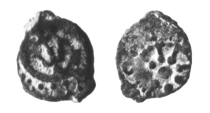 מטבע יהודי (חשמונאי) של אלכסנדר ינאי