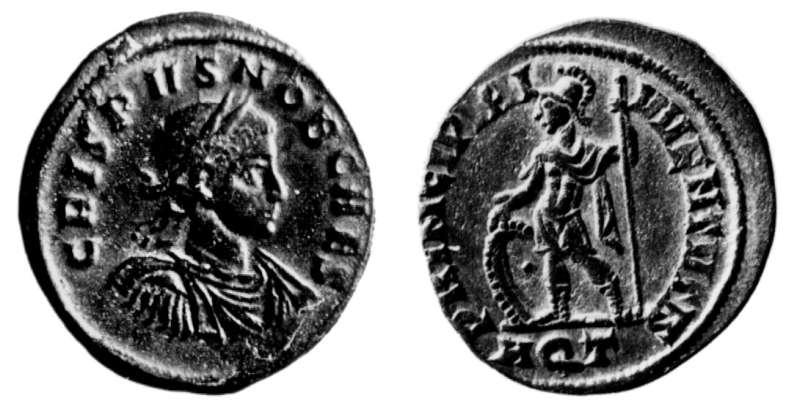 Roman Imperial coin of Crispus