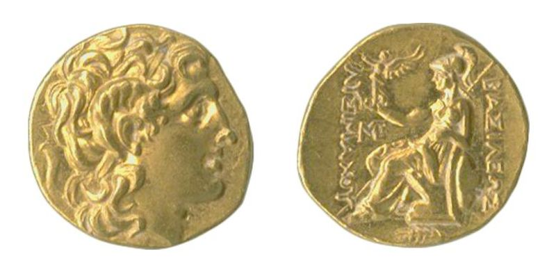 Greek coin of Lysimachus