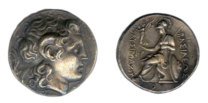 Greek coin of Lysimachus