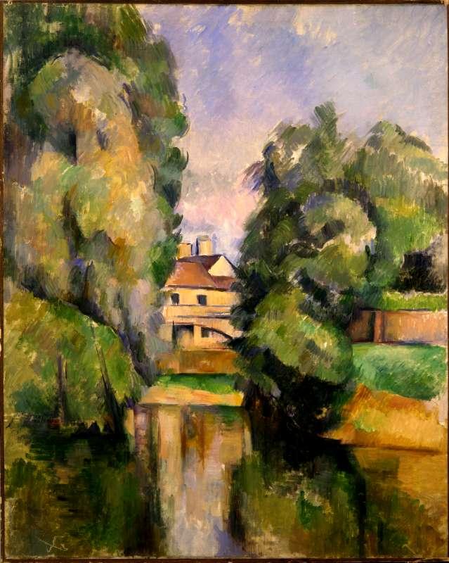 בית כפרי ליד נהר