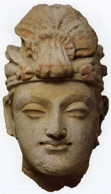 Head of a young noble with a turban