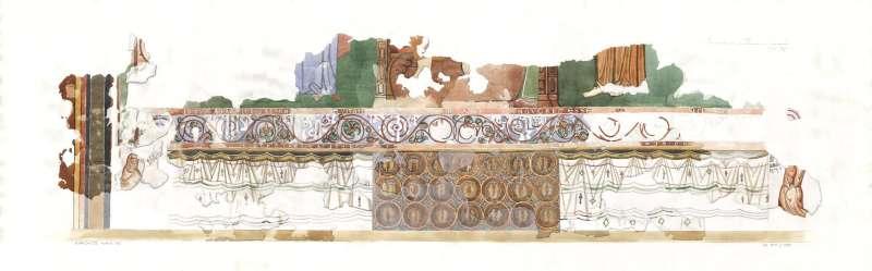 ציור קיר המתאר את ישו, מריה ויוחנן המטביל